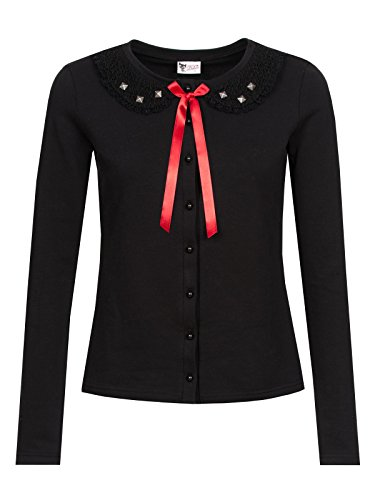 Pussy Deluxe Black Stories Cardigan donna nero XS