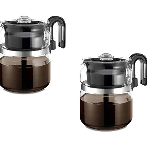 One All Black 8-Cup Percolator - One All Model - 1-PK008-BL-6 - Set of 2 Gift Bundle