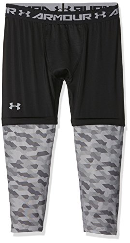 Under Armour pantaloni da basket SC303/4Leggings, Uomo, Basketball Hose Sc30 3/4 Leggings, nero, M