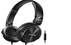 Philips SHL3095BK On-Ear Headphones with Mic (Black)