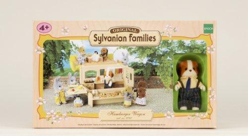 sylvanian families fast food et papa chien chiffon sylvani. Black Bedroom Furniture Sets. Home Design Ideas