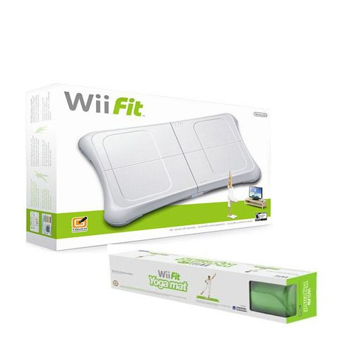Wii Fit with Balance Board and Yoga Mat Bundle