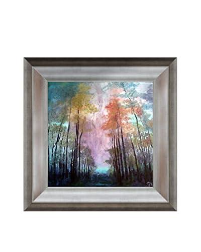 """Susan Art """"Flame Violet"""" Framed Canvas Print"""