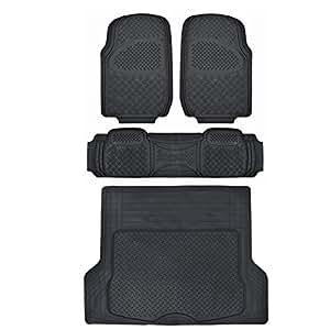 Motor trend odorless black heavy duty suv 4 for Motor trend floor mats review