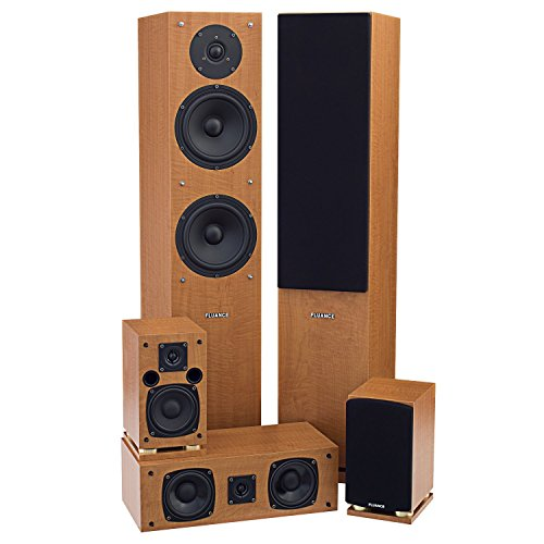 Fluance SXHTB+ 5 Speaker Surround Sound Home Theater System