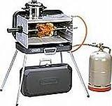 KOFFER GRILL - EDELSTAHL Gasbrenner mit 2 KOCHSTELLEN - 50 mbar Version - BRENNER und KOCHPLATTEN aus EDELSTAHL - SEITENTEILE aus STAHLBLECH - 80 cm Gasschlauch - Vertrieb durch Holly ® Produkte - STABIELO -