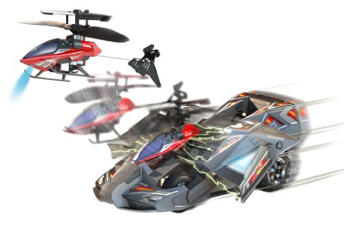 Silverlit Heli-Racer 3-Channel Remote Control Car and Helicopter Combo (One Style and Frequency Only)