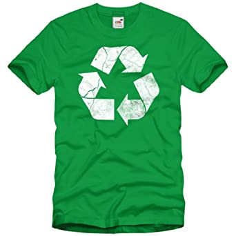 style3 Recycle T-Shirt Homme The Big Bang Theory Sheldon tbbt, Taille:2XL;Couleur:Vert