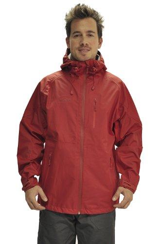 Men's Active 3 Layer Waterproof Jacket - Colour Orange Size Large