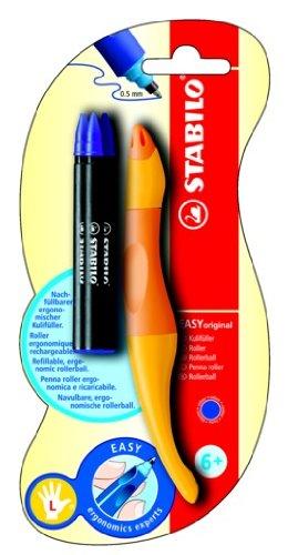 Stabilo EASYoriginal - Bolígrafo de punta rodante para diestros, color amarillo, naranja