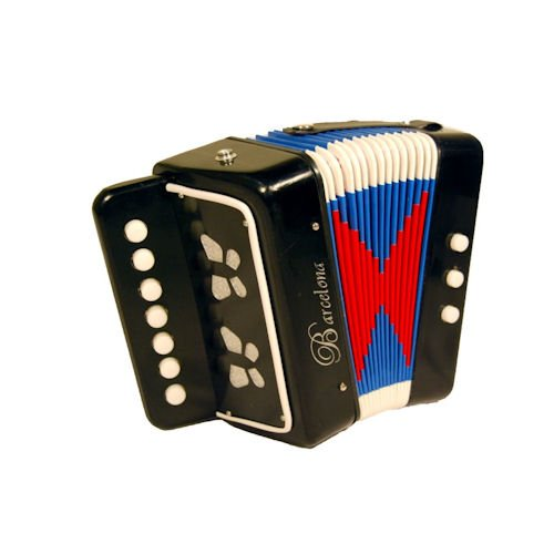 Barcelona Children's Toy Accordion - Black