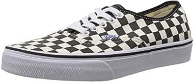 Vans U Authentic, Baskets mode mixte adulte - Noir (Black/White Checker), 34.5 EU