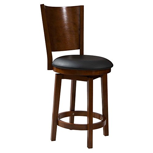 Powell Furniture Big Tall Solid Wood Centre Stool Black