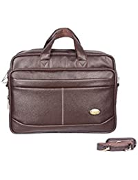 Handcuffs Expandable Office Bag For Men's 16' Inch Laptop Bag Brown Color Leather Bag