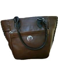 Stylish Hand Held Bag (violet) , BROWN , VHBR5