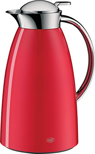 alfi Gusto Glass Vacuum Lacquered Metal Thermal Carafe for Hot and Cold Beverages, 1.0 L, Red (Thermal Carafe Red compare prices)