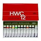 ホルベイン 透明水彩絵具 12色セット