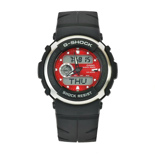 Casio Men S G300 4 G Shock Red Dial Shock Resistant Watch