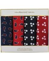 Bandanas - Box of Four Large Bandanas or Handkerchiefs (B23) - Two Spot Bandanas and Two Paisley Bandanas