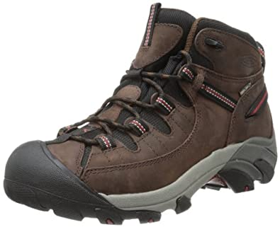KEEN Men's Targhee II Mid Waterproof Hiking Boot,Chestnut/Bossa Nova,7 M US