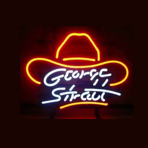 "New George Stratt Neon Light Sign Home Beer Bar Pub Recreation Room Game Room Windows Garage Wall Sign 17w""x 14""h"