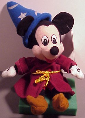 Disney Bean Bag Plush Mickey Mouse Sorcerer - 1