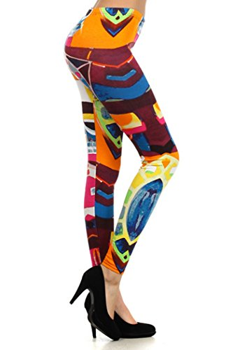 Women's Printed Leggings, Art Gallery, Plus