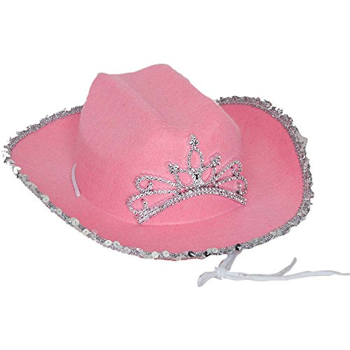 Kids Fuchsia Cowgirl Hat with Tiara