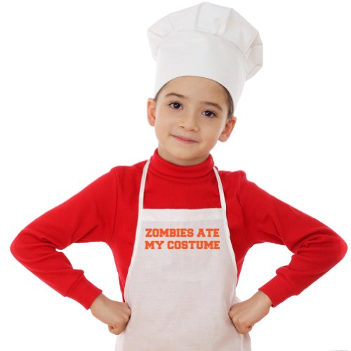 Zombie Underground Zombies Ate My Costume Toddler White Apron & Chef Hat