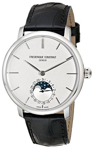 Frederique Constant Men's FC705S4S6 Slim Line Analog Display Swiss Automatic Black Watch image