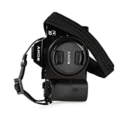 Foto&Tech Padded Neck Shoulder Strap with Black Grosgrain Ties for Fujifilm Samsung Sony Olympus Panasonic Canon Nikon Pentax Compact Cameras Point and Shoots Cameras