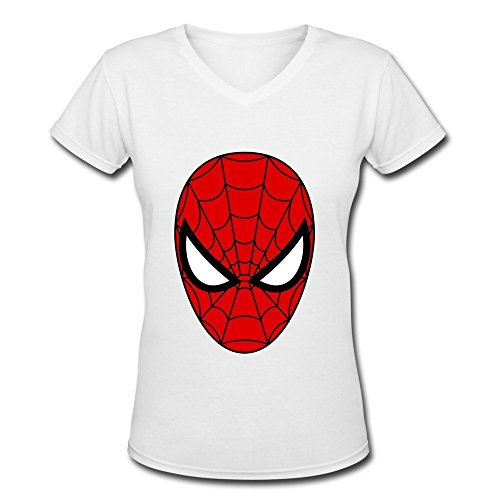 GLYCWH Women's Spider Man T-Shirt White US Size XL Funny