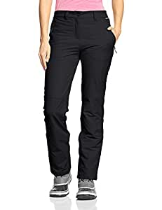 Jack Wolfskin Damen Softshell Hose Activate Winter Pants, Black, 18, 1500072-6001018