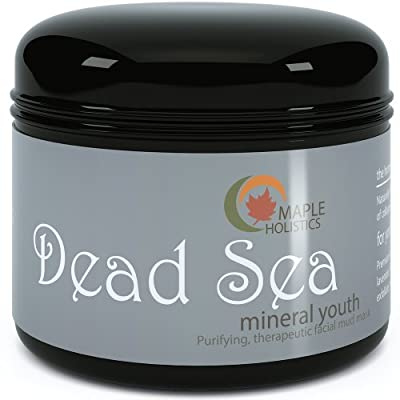 Dead Sea Mud Mask for Women, Men & Teens - Enriched with Organic Mineral Youth Formula to Balance Oily Skin, Remove Acne, Wrinkles & Exfoliate - Anti Aging Facial Cleanser Heals Oily Skin, Psoriasis, Minimizes Pores, Cleansing & Detoxifying Scrub - 9oz by