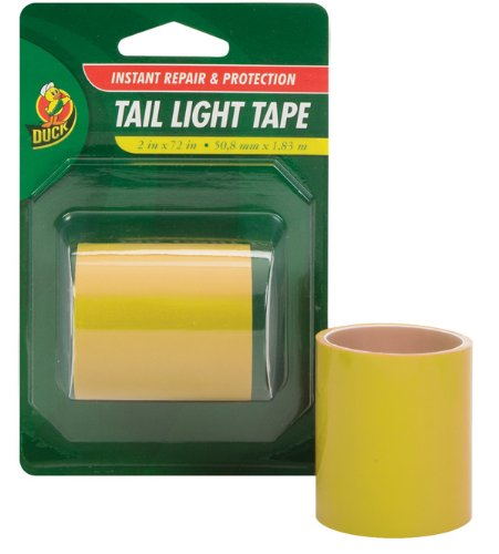 duck-brand-280125-automotive-tail-light-tape-2-inch-by-6-feet-single-roll-yellow-amber