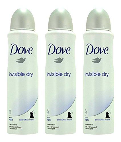 Set of 3 Dove Invisible Dry Spray Deodorant Anti Perspirant 150 Ml / 5.07oz (Invisible Force United compare prices)