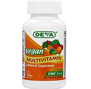Deva Vegan Vitamins Daily Multivitamin & Mineral Supplement  90 tablets