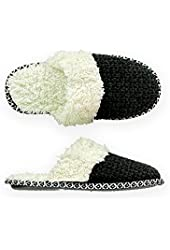 American Eagle Outfitters Womens Faux Fur Lined Scuff Slippers
