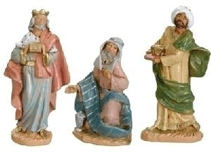 Fontanini 3-1/2-Inch Kings, Set of 3 Nativity Addition