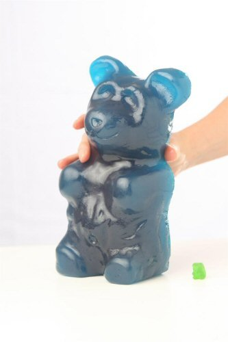 WhatTheDevil's Giant GummyDevil (The World's Largest Gummy Bear!) - Blue Raspberry flavor (Worlds Biggest Gummy Bear compare prices)