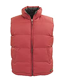 Tempco Men\'s Reversible Puffer Vest - Medium - Red/Black