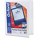 Oxford - ViewFolio Polypropylene Portfolio, 50-Sheet Capacity, White/Clear 57444 (DMi EA