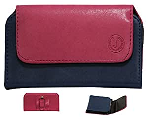 J Cover A4 Nillofer Belt Case Mobile Leather Carry Pouch Holder Cover Clip For Yu Yunique Plus Pink Dark Blue