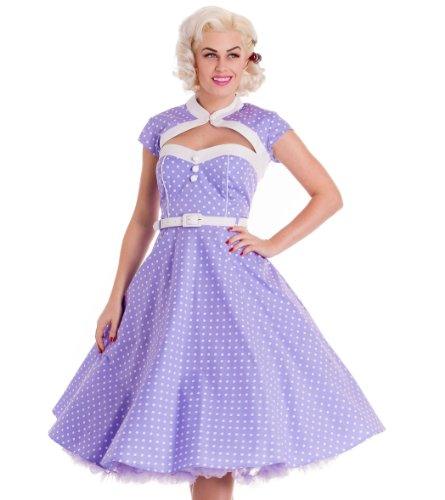 Hell Bunny Lilac Melanie Dress M - UK 10 / EU 38