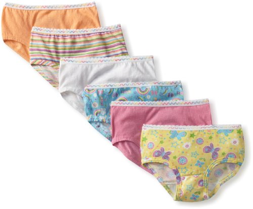 Fruit Of The Loom Little Girls' 6 Pack Wardrobe Brief,Assorted,4T