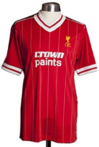 Score Draw Official Retro Men's Liverpool 1982 PY Shirt - Red, Small