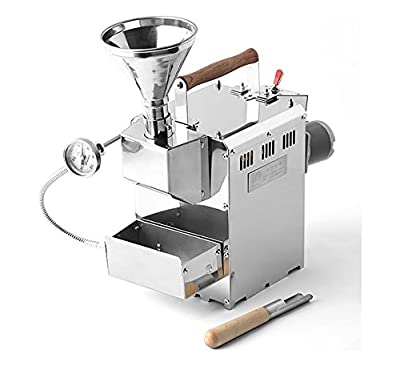 KALDI Home Coffee Roaster Motorize Type Full Package Including Thermometer, Hopper, Probe Rod, Chaff Holder (Gas Burner Required) from KALDI