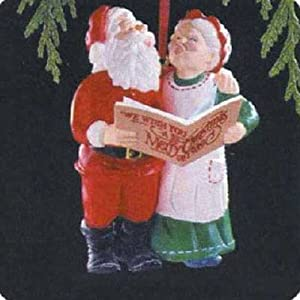 Holiday Duet Mr. and Mrs. Claus 4th in Series 1989 Hallmark Ornament QX4575