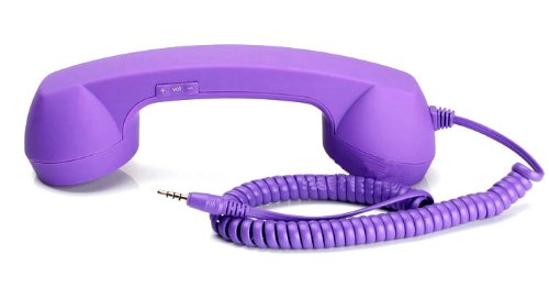 Universal, Retro Phone Handset And Answering Button For Apple Iphone 5