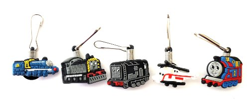 5 Pc Thomas The Tank Engine Trains Zipper Pull Charms For Jacket Backpack Bag Pendant front-228699